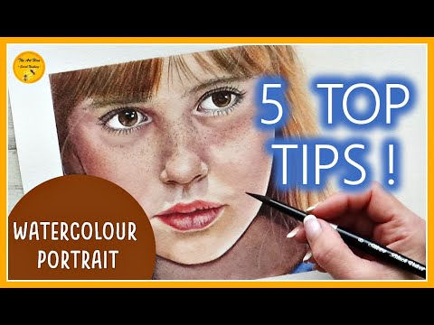 WATERCOLOUR PORTRAIT -  5 TOP TIPS for beginners | How to paint SKIN in WATERCOLOR (TUTORIAL)