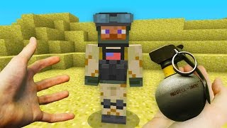 REALISTIC MINECRAFT - STEVE JOINS THE ARMY! 💥