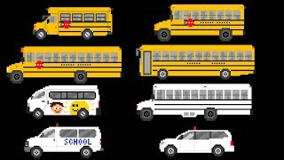 School Buses - Street Vehicles - The Kids' Picture Show (Fun & Educational Learning Video)