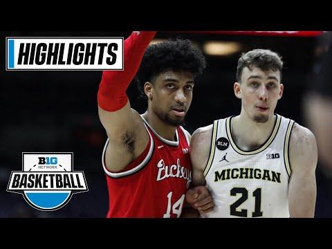 Ohio State vs. Michigan | March 13, 2021 | Big Ten Men's Basketball Tournament | Highlights