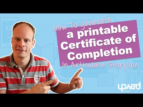 How To Create A Printable Certificate Of Completion In Articulate Storyline