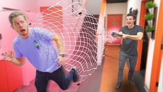Playing A Game Of Tag With A Net Launcher!!