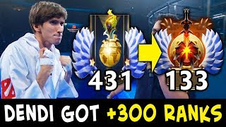 Dendi got +300 RANKS after calibration — 2nd MMR SEASON