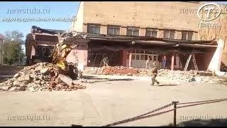 В Богородицке обрушилась часть крыши ДК