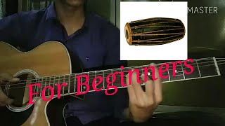 How to play madal  beat in guitar | lesson | tutorial in Nepali.