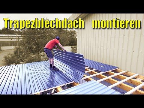 Der XXL Carport #3 | Aufbau Carport/Montage Trapzeblechdach