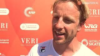 Michel Mulder na one lap: 'Helpt niet als iemand op je skeeler gaat staan'
