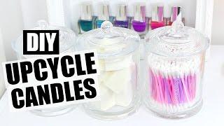 DIY Candle Jar Organisation & Upcycling!