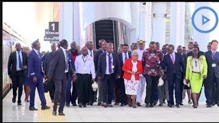President Uhuru Kenyatta launches the Nairobi-Suswa SGR train