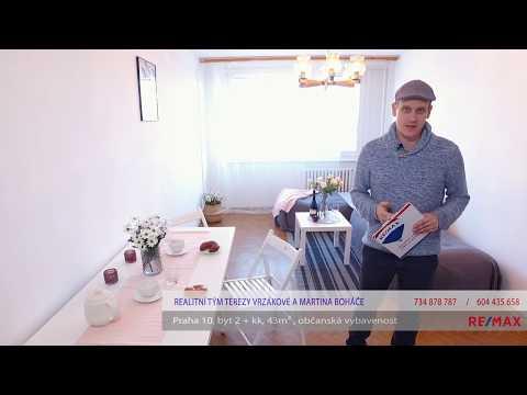 Video Prodej bytu 2+kk v osobním vlastnictví 43 m², Praha 10 - Petrovice