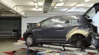 ✅До ✅После - Кузовной ремонт заднего крыла Volkswagen Golf Plus