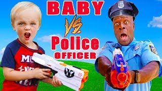 Baby vs Police Officer! Who Will Win?