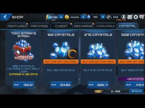 Marvel Future Fight - How to Purchase Tony Stark's Stash Using Prepaid Load on Android (Philippines)
