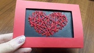 Открытка ко Дню Святого Валентина своими руками. DIY