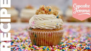 Birthday Cake Batter Cupcakes | Cupcake Jemma