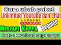 ubah kuota unlimited Youtube indosatooredoo menjadi reguler internet gratis