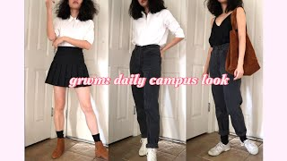 grwm: my daily uni look + 3 minimalist outfits