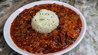 Louisiana Style Red Beans And Rice Recipe| Easy Recipe