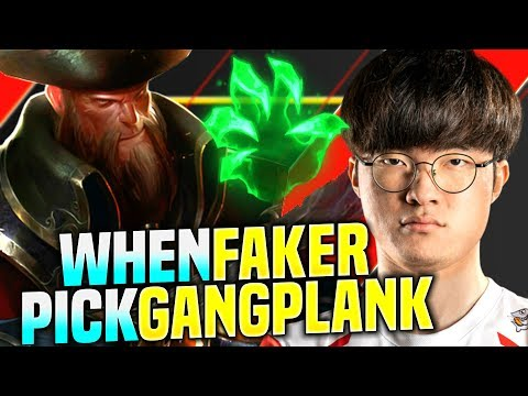 FAKER IS READY TO PLAY GANGPLANK MID! - SKT T1 Faker Plays Gangplank vs Nocturne Mid!