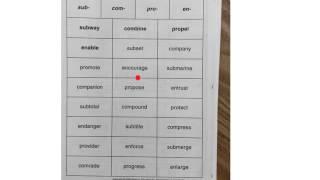 Prefixes sub-, com-, pro-, and en-