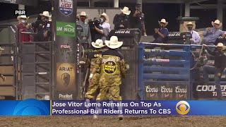 Jose Vitor Leme Remains On Top As Professional Bull Riders Returns To CBS This Weekend