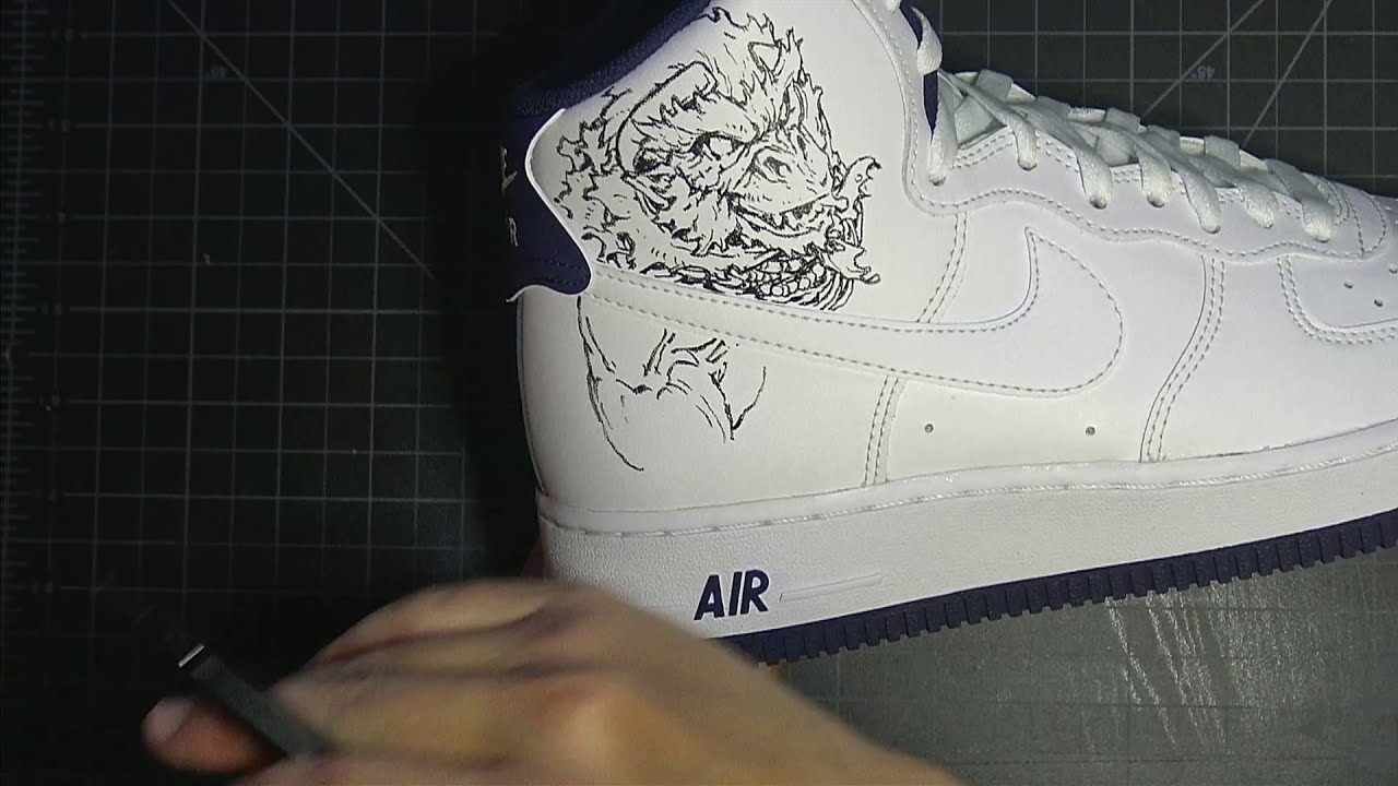 drawing on your shoes tutorial by peter han