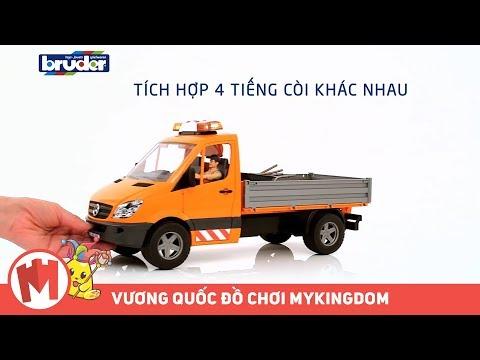 Quảng cáo đồ chơi BRUDER – VUI BẤT TẬN VỚI XE CHUYÊN CHỞ MERCEDES BENZ GỒM TÀI XẾ & PHỤ KIỆN