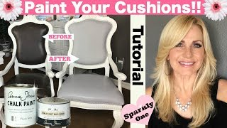 Annie Sloan Chalk Paint Tutorial - Painting Vinyl Seats For Dining Room Chairs