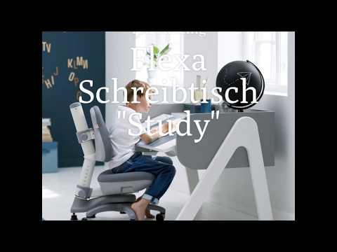 """Flexa Kinderschreibtisch """"Study"""" höhenverstellbar und neigungsverstellbar bei KidsWoodLove"""
