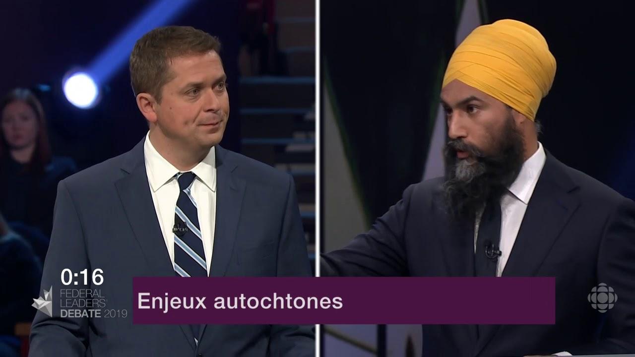 Andrew Scheer et Jagmeet Singh sur le consentement des Autochtones aux nouveaux oléoducs