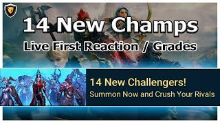 RAID Shadow Legends | 14 New Champs | Live First Reaction / Grades