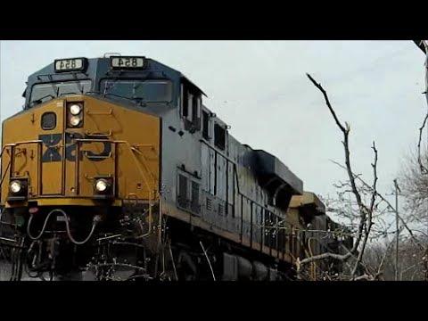 Marc train and CSX freight train camera head on!