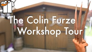 """Whats in the Boxes how do the tools work and more, its the Colin Furze Shed Tour, plus 2 new pairs of WOLVERINE CLAWS.  Channel members saw this early JOIN and be involved in shaping the videos and projects https://www.youtube.com/channel/UCp68_FLety0O-n9QU6phsgw/join  Get your colinfurze merch here and support the channel https://www.colinfurzeshop.com  https://www.stakesys.co.uk use promo code FURZE https://swift-cut.com https://www.baileighindustrial.co.uk https://www.lincolnelectric.com/en-gb/Pages/default.aspx?locale=2057 https://amob.co.uk https://www.taylor-studwelding.com https://fireballtool.com  Work for a tool company and have equipment I could use get in touch at email address at bottom.  Follow me on Social Media. Instagram https://www.instagram.com/realcolinfurze/ Twitter https://twitter.com/colin_furze Facebook https://www.facebook.com/Colin-furze-521680751253584  The Channel that made the Steampunk welding mask https://www.youtube.com/channel/UCGOxLRYpzNVXFxqhb35a97g  Music  1st Track is called """"Steve Buscemi"""" by """"Big Beard"""" Bandcamp http://bigbeard.bandcamp.com/track/steve-buscemi Facebook https://m.facebook.com/Big-Beard-165485510955489/?ref=bookmarks SoundCloud https://soundcloud.com/bigbeardcupboard  In a band? Want your music on my videos! Send your tracks to furzemail@yahoo.co.uk as all music on this channel is from viewers  #colinfurze #workshoptour #wolverine"""