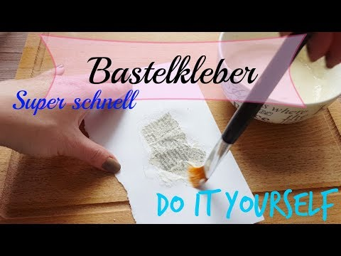DIY ✿ Bastelkleber ✿ Kleber selber machen✿ Kids Craft ✿ Back to School