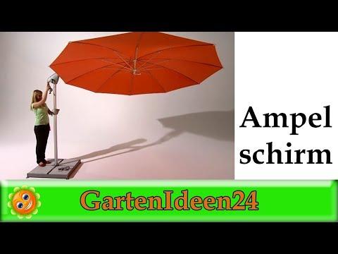 Der Ampelschirm als wirkungsvoller Sonnenschutz im Garten