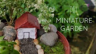 Easy DIY Miniature Garden In Mud Pot | DIY Miniature Fairy Garden | G4 Garden
