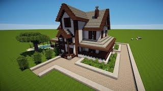 MINECRAFT HOLZHAUS Bauen TUTORIAL HAUS видео Видео - Minecraft hauser zeigen