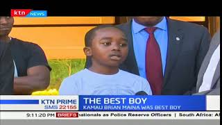 Kamau Brian Maina from Alliance Boys was best boy in the country