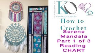 How To Crochet Mandala Wall Hanging Part 1 Of 3 How To Read Crochet Chart