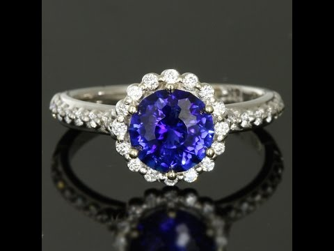 Beautiful Blue Sapphire Engagement Ring