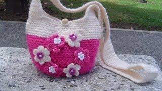 Como Hacer Bolso Tejido A  Crochet Paso A Paso Parte 1/2