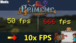 Minecraft: Prime Client 100% Fps boost increase