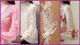 Sleeves For #Maxi Dresses #SkaterDresses And #LaceBlouses - Cute Lace Decorated Sleeves Design 2020
