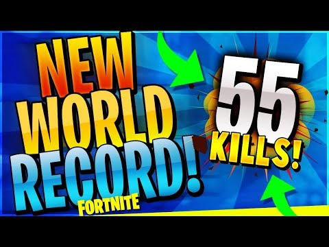 NEW WORLD RECORD 55 KILL WIN! (Fortnite Battle Royale)