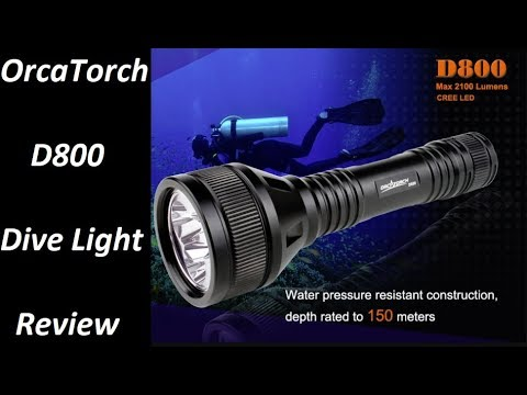 OrcaTorch D800 Dive Light Review