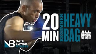 Ultimate 20 Minute Beginner Heavy Bag All Boxing Workout
