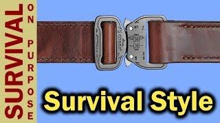 Leather Cobra Buckle Gun Belt From Klik Belt
