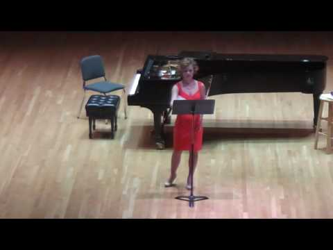 "My 2016 performance of Thomas Sleeper's ""Xandre"" at the Frost School of Music at the University of Miami"