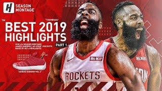 James Harden BEST Highlights & Moments from 2018-19 NBA Season! BEAST Mode! (Part 1)