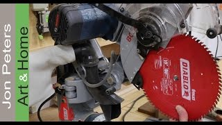 Change Blade & Improve  Performance - Bosch Miter Saw